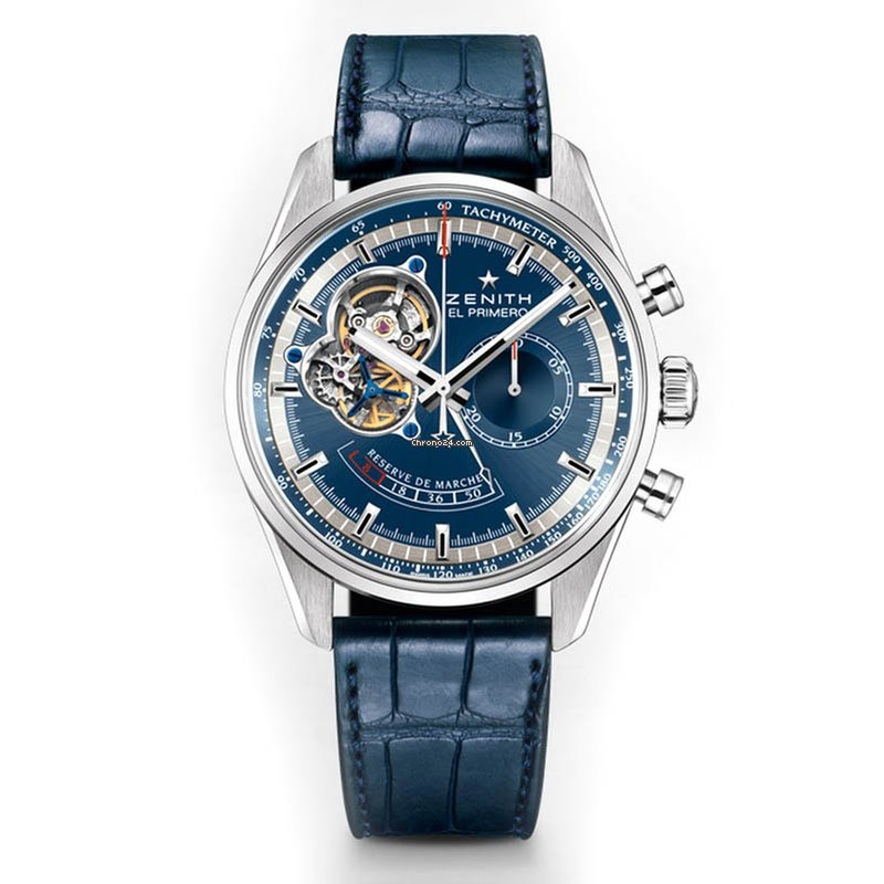 Zenith [NEW] El Primero Chronomaster Power Reserve Blue Dial Mens Watch 03.2085.4021/51.C700
