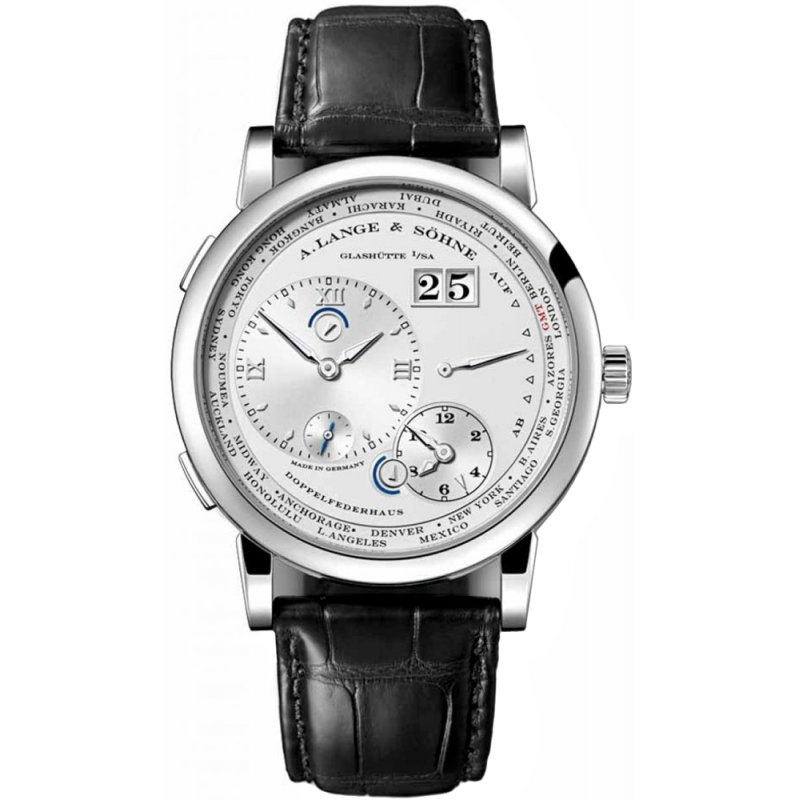A Lange and Sohne 全新 116.039 Lange 1 Time Zone 41.9mm Mens Watch