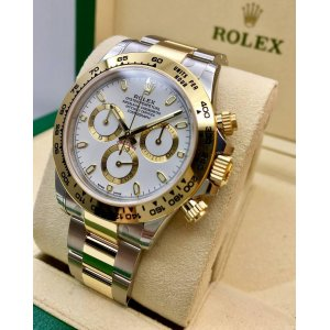 Rolex [NEW] Cosmograph Daytona Steel and Gold 116503 White Dial Mens Watch