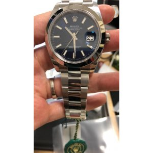 Rolex [NEW] Datejust Mens 41mm 126300 Blue Dial Steel Watch (Retail:HK$55,500)