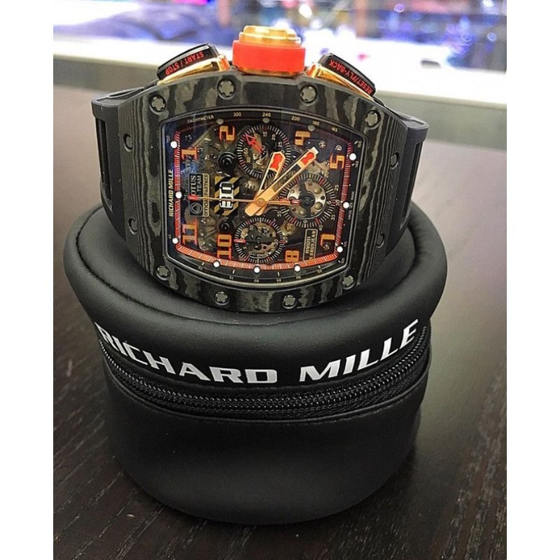 Richard Mille RM 011 Carbon NTPT Lotus F1 Team (Retail:HK$1,170,000) - SOLD!!