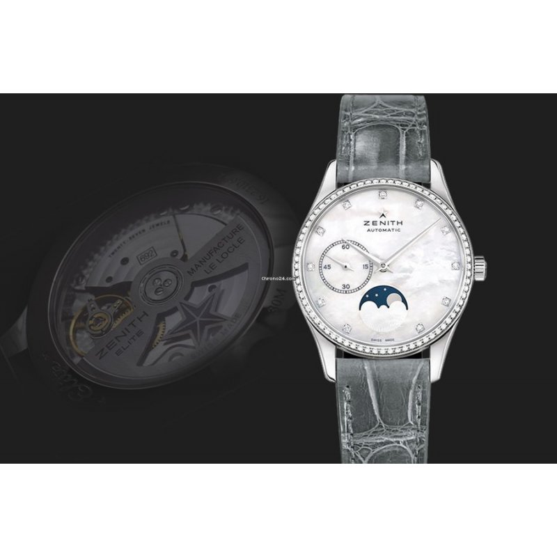 Zenith [NEW] Elite Ultra Thin Lady Moonphase Ladies Watch (Retail:HK$63,100)