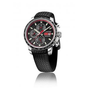 Chopard 全新 168571-3001 Mille Miglia GTS Chrono Black Dial Black Rubber Racing Tires Men's Watch