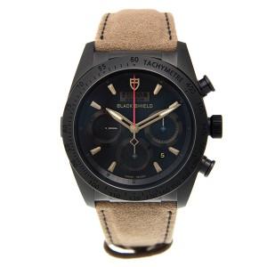 TUDOR [NEW] Fastrider Blackshield Black Dial Alcantara Leather 42000CN