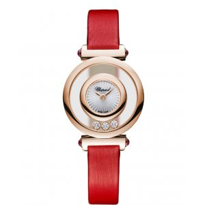 Chopard 全新 204780-5201 HAPPY DIAMONDS ICONS LADIES WATCH 18K ROSE GOLD