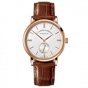 A. Lange & Söhne [NEW] Sonhne Saxonia Silver Dial 18K Rose Gold Men's Watch 219.032 (Retail:EUR15000)