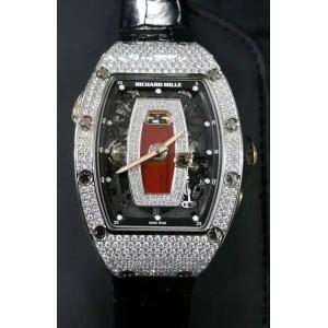 Richard Mille [NEW+RARE] RM 037 Ladies White Gold Full Set Diamond Watch