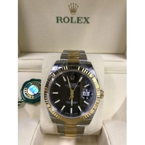 Rolex [NEW] Datejust 41mm 126333 Black index Oyster Mens