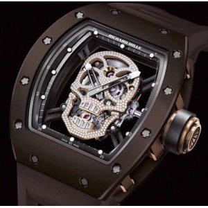 Richard Mille [ONLY 1 NEW] RM 52-01 Rose Gold Brown Ceramic Skull LTD 6 PCs ~ SOLD!!