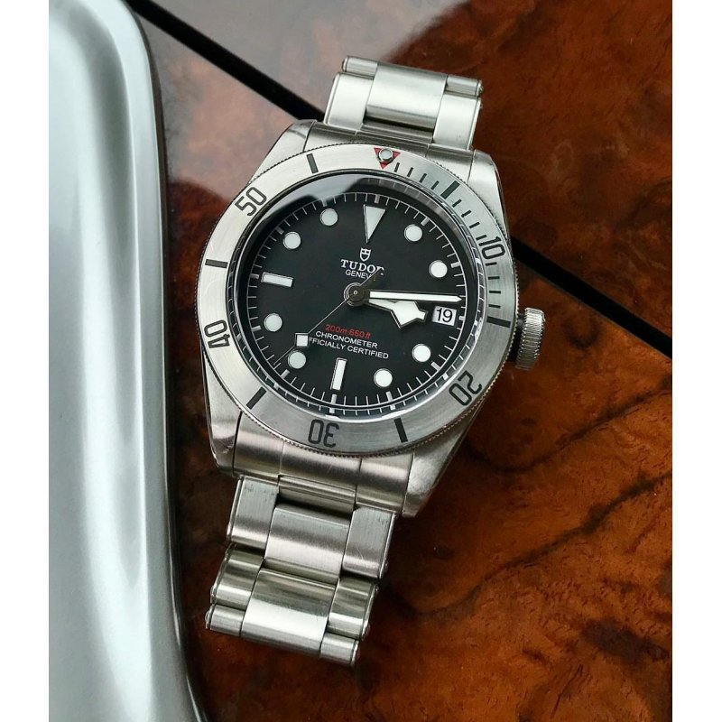 TUDOR [NEW] Heritage Black Bay Chronometer Automatic Black Dial 79730-0001