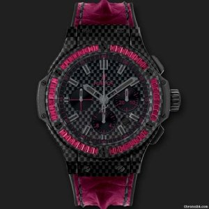 Hublot [NEW] Big Bang Carbon Bezel Baguette Rubies 301.QX.1730.HR.1902