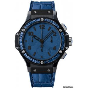 HUBLOT [全新] Big Bang Tutti Frutti Blue Dial Chronograph 341.CL.5190.LR.1901 (Retail:CHF$34,300)