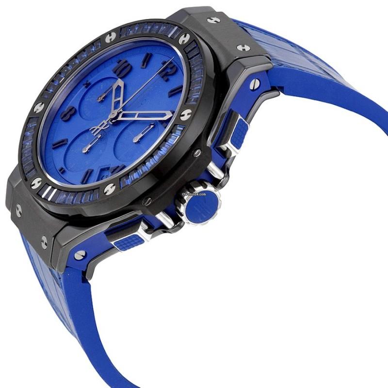 HUBLOT [全新] Big Bang Tutti Frutti Blue Dial Chronograph 341.CL.5190.LR.1901 (Retail:CHF$34,300)