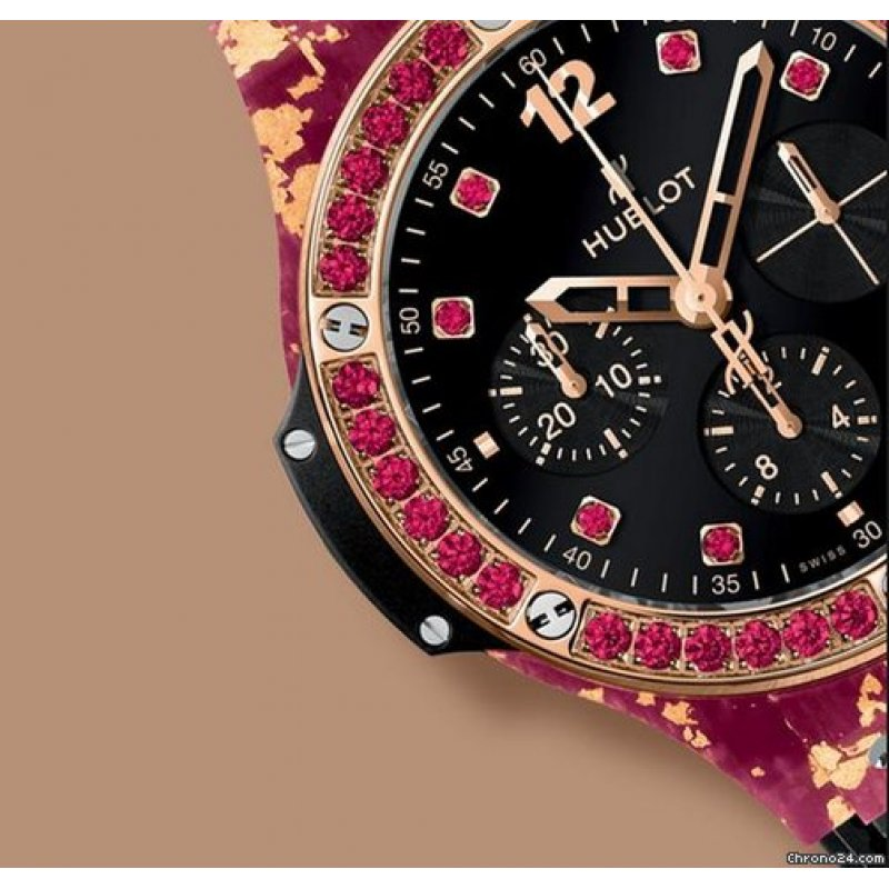 HUBLOT [NEW][LIMITED 200] Big Bang Gold Linen Black Spinel Ladies 341.XP.1280.NR.1213 (Retail:HK$210,400)