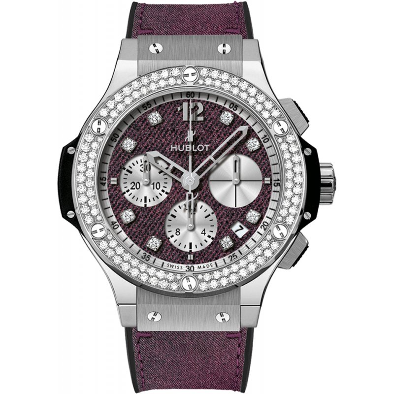 Hublot [NEW][LIMITED 250] Big Bang Purple Jeans Diamonds 341.SX.2790.NR.1104.JEANS14 (Retail:EUR 17000)
