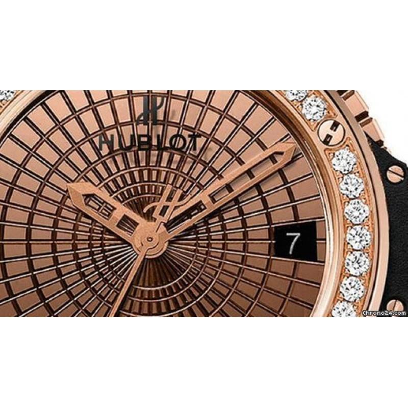 Hublot [NEW] Big Bang Gold Caviar Diamonds 346.PX.0880.VR.1204 (Retail:EUR 35200)