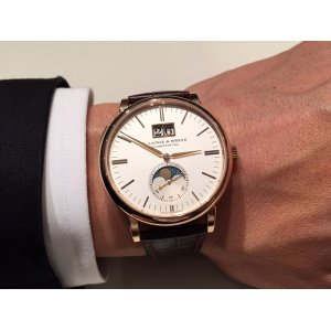 A. Lange & Söhne [NEW] Saxonia Moon Phase Silver Dial Automatic Men's Watch 384.032 (Retail:EUR 28700)