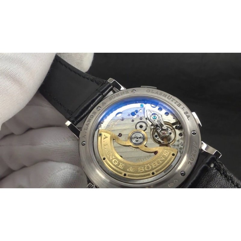 A. Lange & Sohne [NEW] Saxonia Dual Time 385.026 (Retail:EUR 26.000)