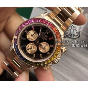 Rolex [NEW 2018 MODEL] Everose Gold Daytona Rainbow 116595RBOW