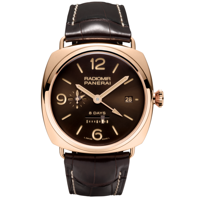 Panerai [LIMITED 500] ^ [NEW] PAM 395 Radiomir Rose Gold GMT 8 Days (Retail:HK$260,300)