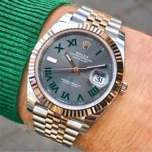 Rolex [NEW] Datejust 41mm Mens 126331 Slate/Roman Jubilee Watch