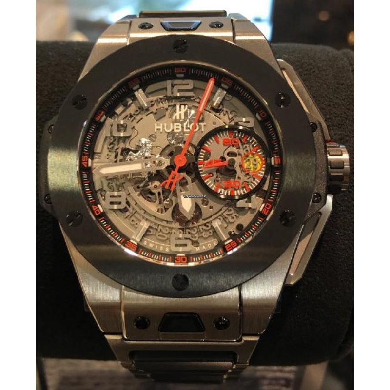 HUBLOT [NEW][LIMITED 1000] BIG BANG FERRARI CHRONOGRAPH 401.NM.0123.NM (Retail:EUR 25.900)