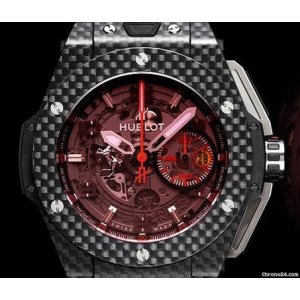 Hublot [全新] [限量1000支] 401.QX.0123.VR Big Bang Unico Ferrari Red Magic Carbon (Retail:CHF$27,900)