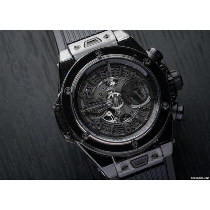 Hublot [NEW][LIMITED 500] Big Bang Unico Sapphire All Black 411.JB.4901.RT (Retail:CHF 60000)