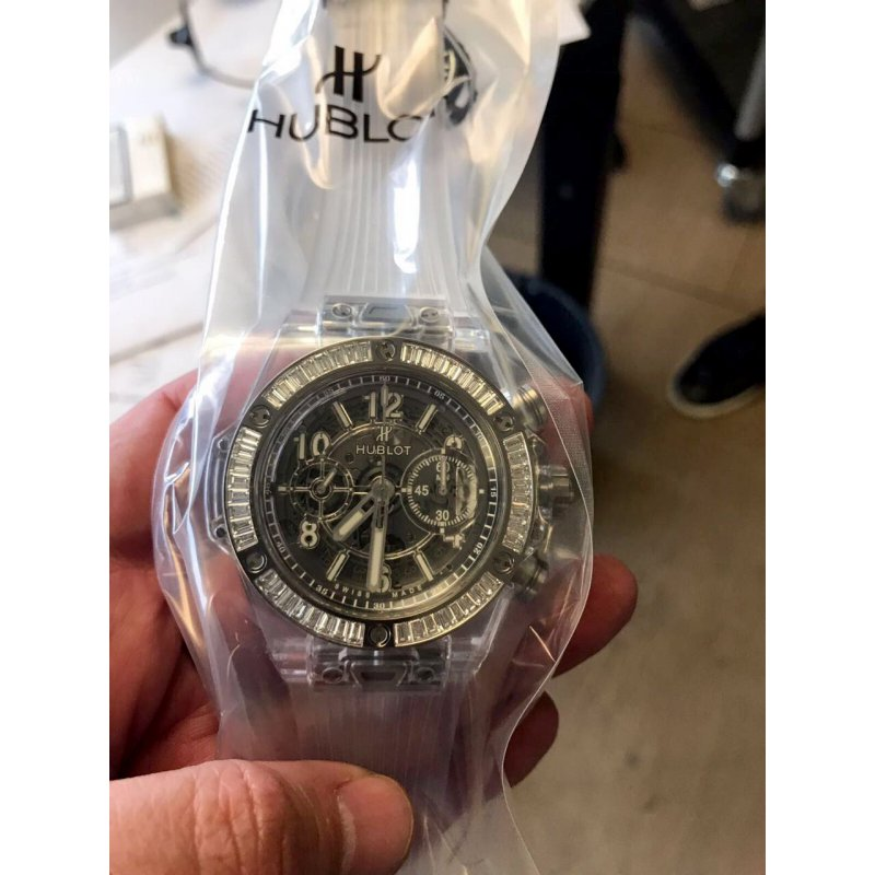 Hublot [NEW][LIMITED 50] Big Bang Unico Sapphire Baguettes 45 mm 411.JX.4802.RT.1904 (Retail:EUR 98000)