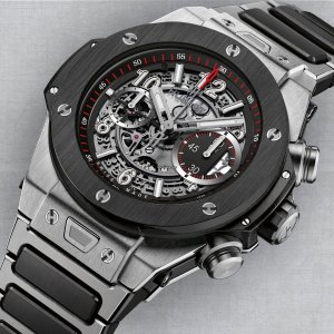 Hublot [NEW] Big Bang Unico Titanium Ceramic Skeletal 411.NM.1170.NM