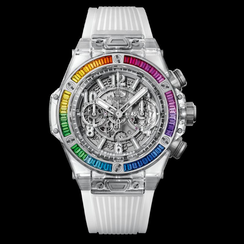 Hublot [NEW][LIMITED 50][限量50支] Big Bang UNICO 411.jx.4803.rt.4099 Sapphire Rainbow (Retail:US$84,000)