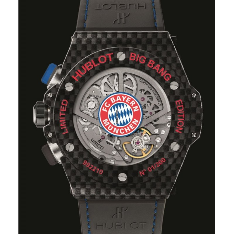 Hublot [NEW][LIMITED 100] Big Bang Unico Bi-Retrograde FC Bayern Munchen 413.QX.1123.GR.BYM15 (Retail:HK$220,000)