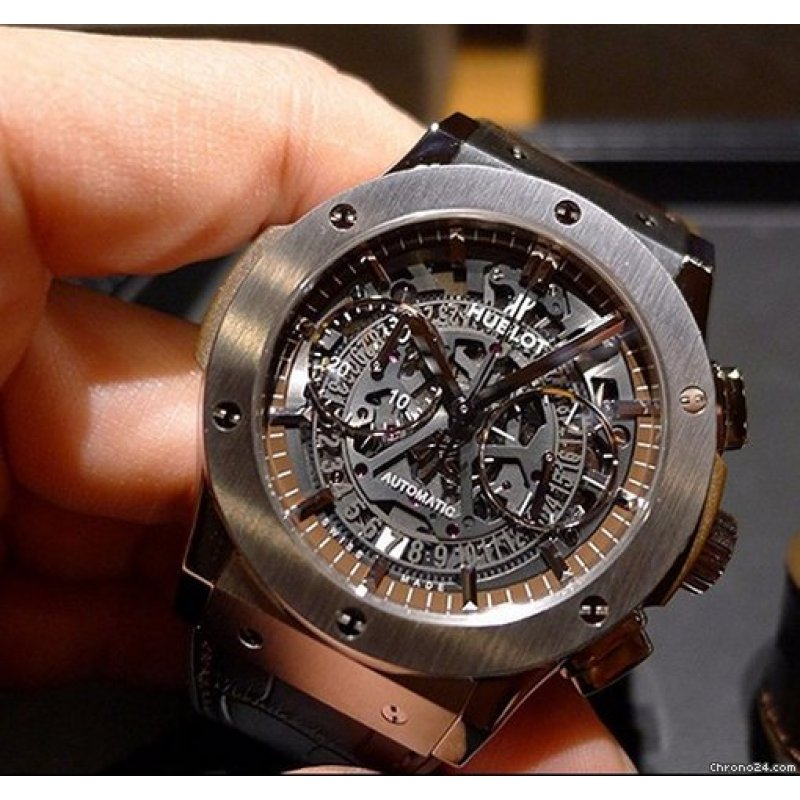 Hublot [NEW] Aero Chronograph Titanium Brown 525.NX.3270.LR Boutique Exclusive (Retail:HK$125,800)