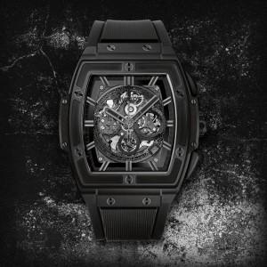 HUBLOT [NEW] Spirit of Big Bang All Black Skeleton Ceramic 601.CI.0110.RX (Retail:HK$197,800)