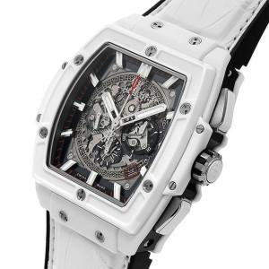 HUBLOT [全新] 601.HX.0173.LR  Spirit of Big Bang Skeleton Dial White Ceramic Chronograph (Retail:US$28,600)
