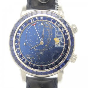 Patek Philippe [NEW] 6104-11P Sapphire Baguette Diamonds Mens Watch
