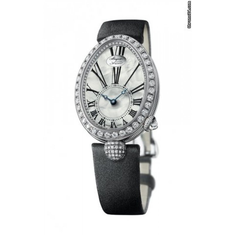 BREGUET [NEW] Reine de Naples Mother of Pearl White Gold Diamond Ladies 8928BB/51/844.DD0D (Retail:CHF 35200)