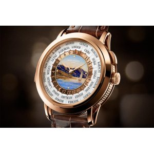 Patek Philippe [NEW] 5531R WorldTime Minute Repeater Lake Geneva Lavaux Vineyard Terrace Shore Dial