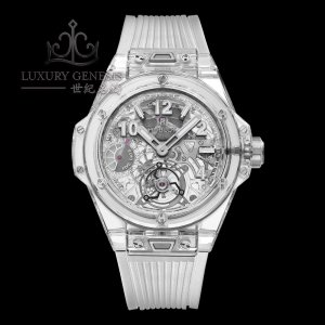 Hublot [NEW][LIMITED 99 PC] Big Bang Tourbillon Power Reserve 5 days Sapphire 405.JX.0120.RT