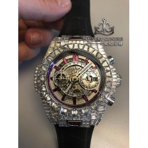 "Hublot [NEW] Big Bang Unico ""10 Years"" Haute Joaillerie Ruby Edition 411.WX.9042.LR.9942"