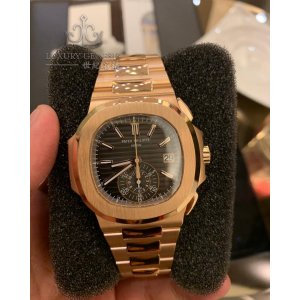 Patek Philippe [NEW] 5980/1R Nautilus Black Dial 18kt Rose Gold Chronograph Automatic (Retail:HK$636,600)