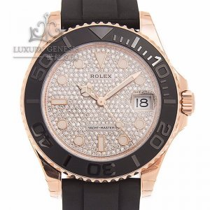 ROLEX [NEW] OYSTER PERPETUAL LADIES 37mm YACHT-MASTER 268655 PAVE DIAMOND