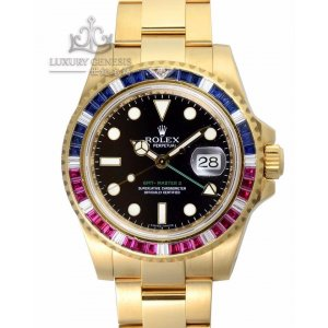 Rolex [NEW] GMT-Master II Yellow Gold Sapphires and Rubies 116748SARU