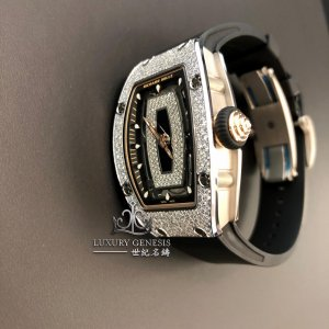 Richard Mille [NEW] RM 07-01 White Gold Diamonds Automatic Ladies Watch