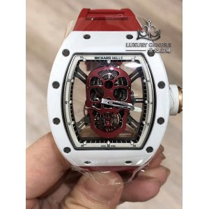 Richard Mille [2013 USED][LIMITED 6 PIECE] RM 52-01 Red Skull Tourbillon Watch
