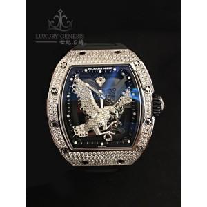 Richard Mille [NEW][UNIQUE] RM 57-02 Falcon White Gold Full Set Diamonds Tourbillon