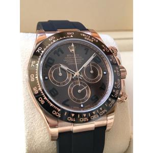 Rolex NEW-全新 18K Everose Gold Daytona Oysterflex Chocolate Dial