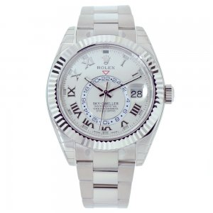 Rolex NEW-全新 326939 Silver Dial Sky-Dweller White Gold Watch (Retail:EUR 45500)
