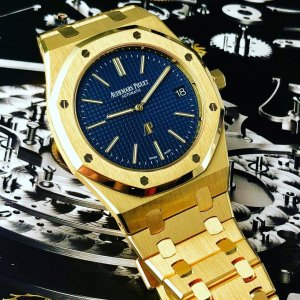 AUDEMARS PIGUET [NEW] ROYAL OAK EXTRA-THIN YELLOW GOLD 15202BA.OO.1240BA.01