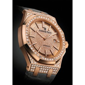 Audemars Piguet [NEW] Royal Oak Lady Pavé Pink Gold Diamond Selfwinding 15402OR (Retail:USD$84,300)